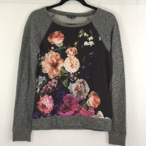 Express Sweatshirt with Floral Front
